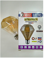 Led винтажная лампа Filament 6w E27 Rustic Diamond-6 Horoz Electric, фото 1