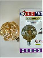 Led вінтажна лампа Filament 6w E27 Rustic Crystal-6 Horoz Electric, фото 1