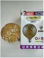 Светодиодная винтажная лампа Filament 6w E27 Rustic Twist-6 Horoz Electric, фото 1