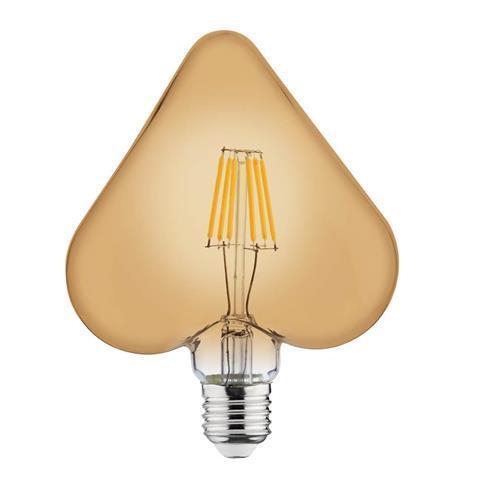 Светодиодная ретро лампа Filament 6w E27 Rustic Heart-6 Horoz Electric