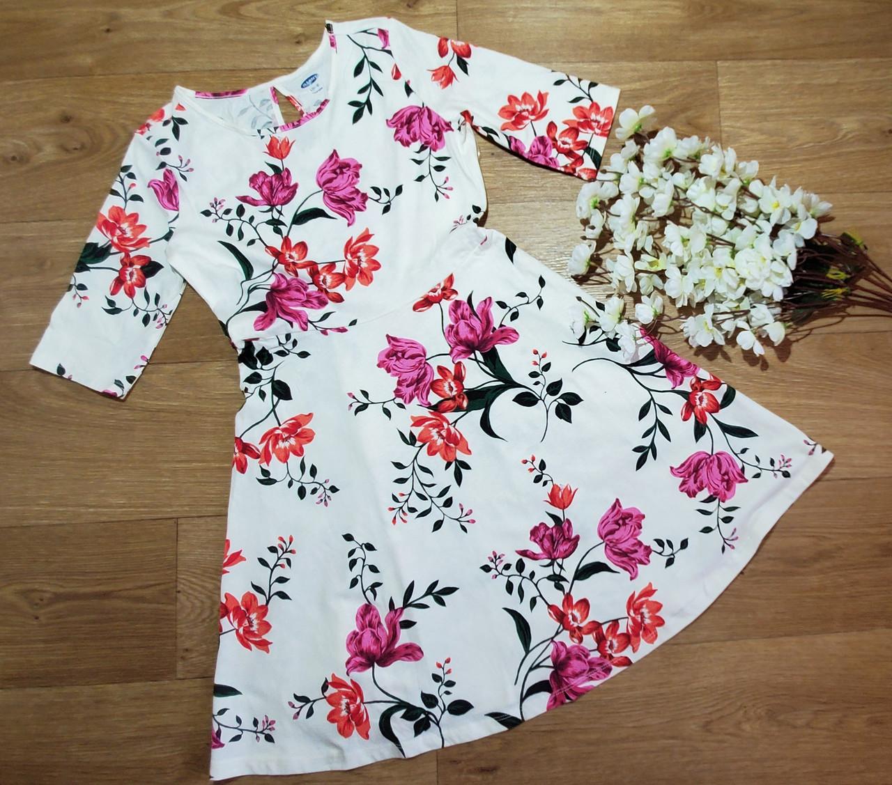 Трикотажное летнее стильное платье в цветах на девочку Old Navy (США) (Размер 10-12Т)