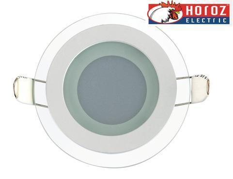 Светодиодный встраиваемый светильник круг стекло 6W 4200K Clara-6 Horoz Electric HL687LG