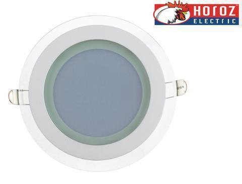 Светодиодный встраиваемый светильник круг стекло 12W 4200K Clara-12 Horoz Electric HL688LG