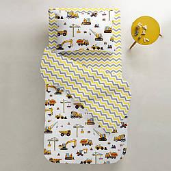 Комплект дитячої постільної білизни BUILDING /зигзаг сіро-жовтий/