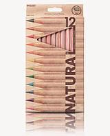 Карандаши цветные Marco Natural, 12 цв., шестигр., толстые