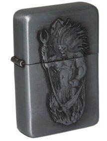 Запальничка на бензині Star 23600Star воїн сріблястий матовий