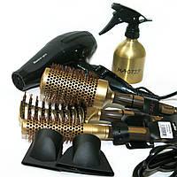 Набор для укладки волос с феном и расческами + распылитель в подарок, фото 1