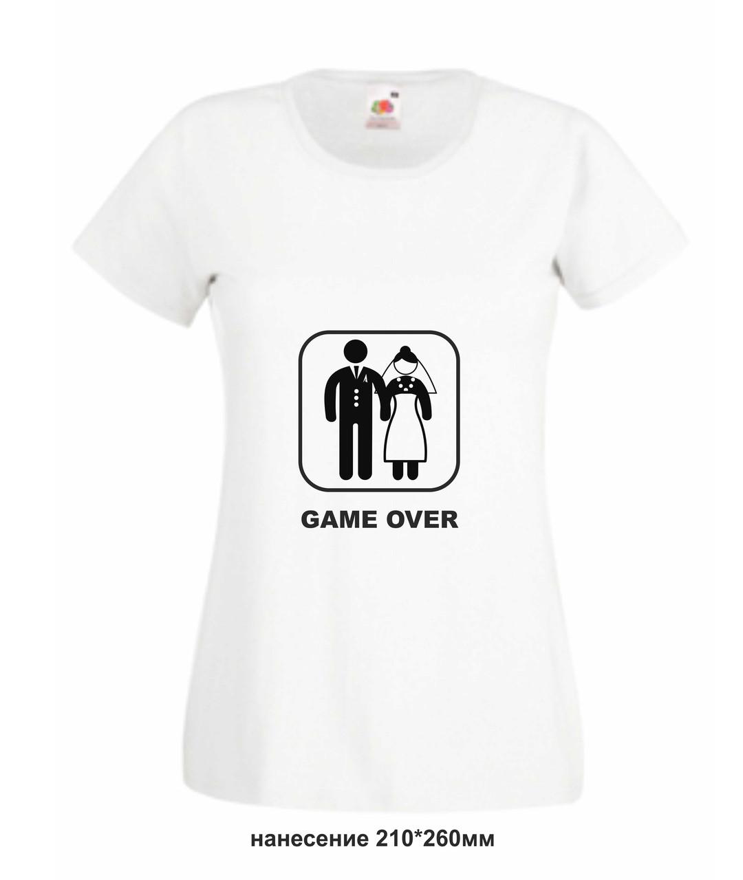 Футболка женская для молодожен Game Over