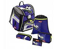 Шкільний рюкзак для хлопчиків HAMA Step By Step SOCCER + 2 пенала + сумка для спортивного взуття