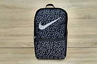 Хайповый рюкзак NIKE, вместительный портфель Найк на каждый день, цвет черный (кости)