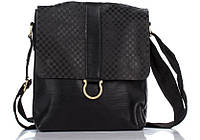 Повседневная мужская кожаная сумка 8955-111 Dovhani черная