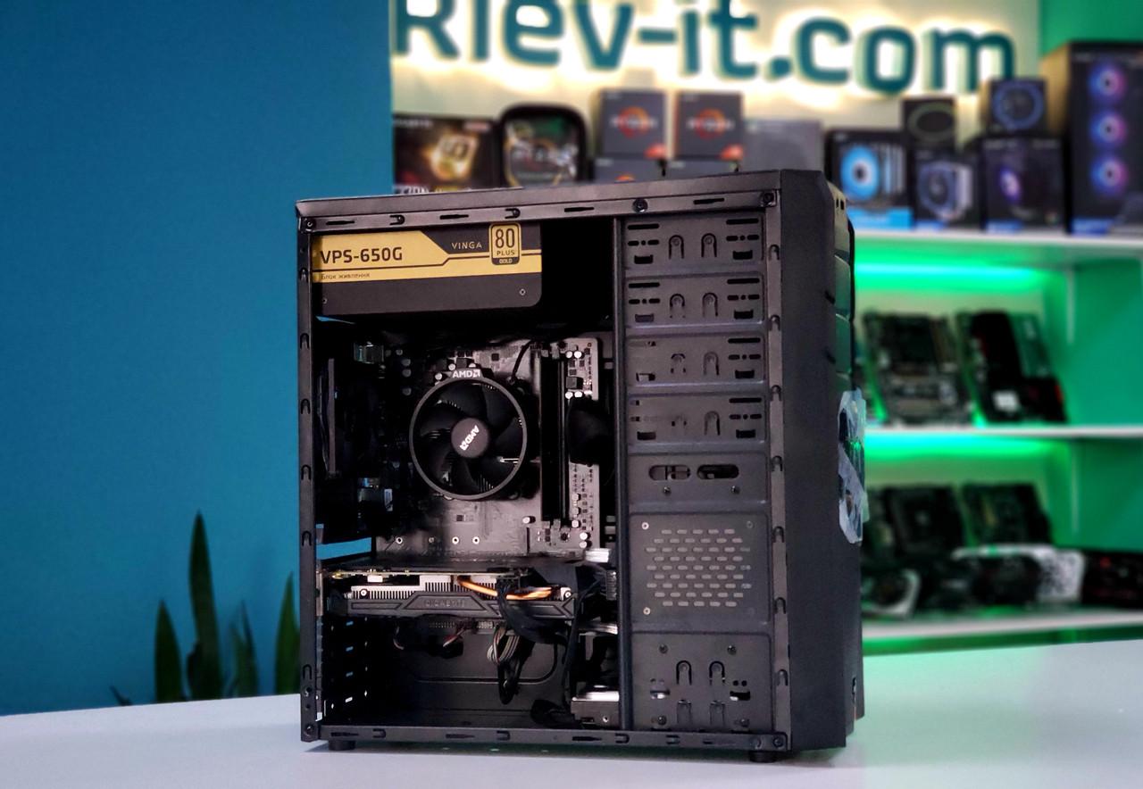 "Игровой компьютер KIEV-IT™ ""Fire SHot"" Ryzen 3 1200 | A320 | GTX 1060 6GB | DDR4 8GB | 120GB | 1TB"
