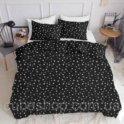 Комплект полуторного постельного белья STARSFALL BLACK (хлопок, ранфорс)