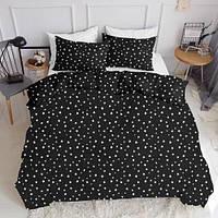 Комплект полуторного постельного белья STARSFALL BLACK (хлопок, ранфорс), фото 1