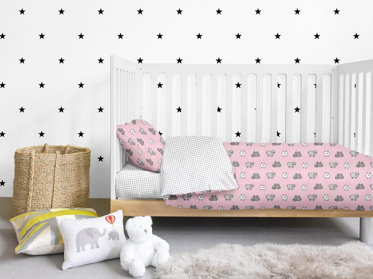 Комплект детского постельного белья SHEEP ROSE /горох серый/