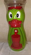 Кулер детский/Диспенсер для воды Утка 2,5 л Салатовый с красным