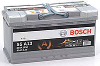 Аккумулятор 6СТ-95A Bosch (S5A13) AGM START STOP, 12V, 95Ah (-/+) Бош евро, 12В, 95Ач, EN850А