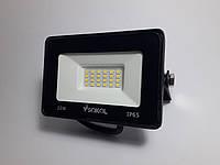 Светодиодный прожектор с белым отражателем 20W 6500K Sokol