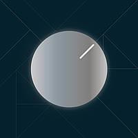 """Круглое зеркало """"Clock"""" с подсветкой"""