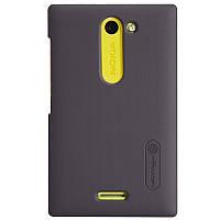 Чехол Nillkin для Nokia Asha 502 коричневый (+пленка)