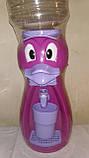 Кулер детский/ Диспенсер для воды Утка 2,5 л Красный с салатовым, фото 3