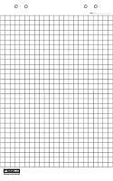 Блок бумаги для флипчарта, 64х90см, 10 л., клетка, Buromax