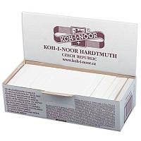 Мел белый 100 шт., квадратный, Koh-i-noor