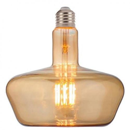 Светодиодная лампа Filament led Ginza-XL 8W E27 2200К Янтар Horoz Electric