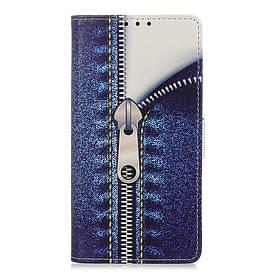 Чехол книжка для Xiaomi Mi 9T боковой с отсеком для визиток, Замочек на молнии