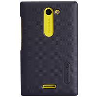 Чехол Nillkin для Nokia Asha 502 чёрный (+пленка)