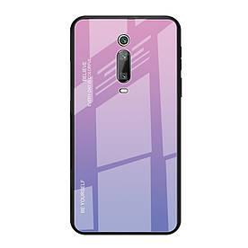Чехол накладка для Xiaomi Mi 9T с зеркальной поверхностью, Градиент, розовый