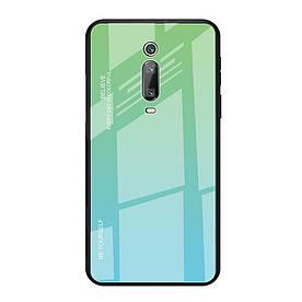 Чехол накладка для Xiaomi Mi 9T с зеркальной поверхностью, Градиент, бирюзовый