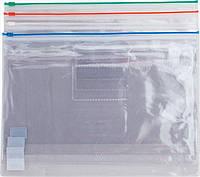 Папка zip-lock А4, Buromax Job, пластик, в асс., внутренний карман