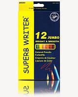 Карандаши цветные Marco Superb Writer, 12 цв., шестигр., толстые