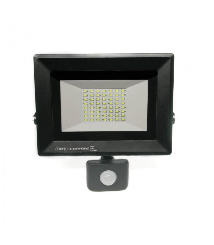 Светодиодный прожектор с датчиком движения 50W 6400K Pars/s-50 Horoz Electric