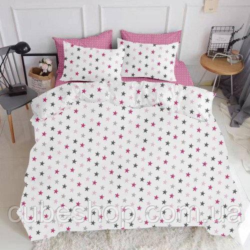 Комплект полуторного постельного белья STAR ROSE ROSE (хлопок, ранфорс)