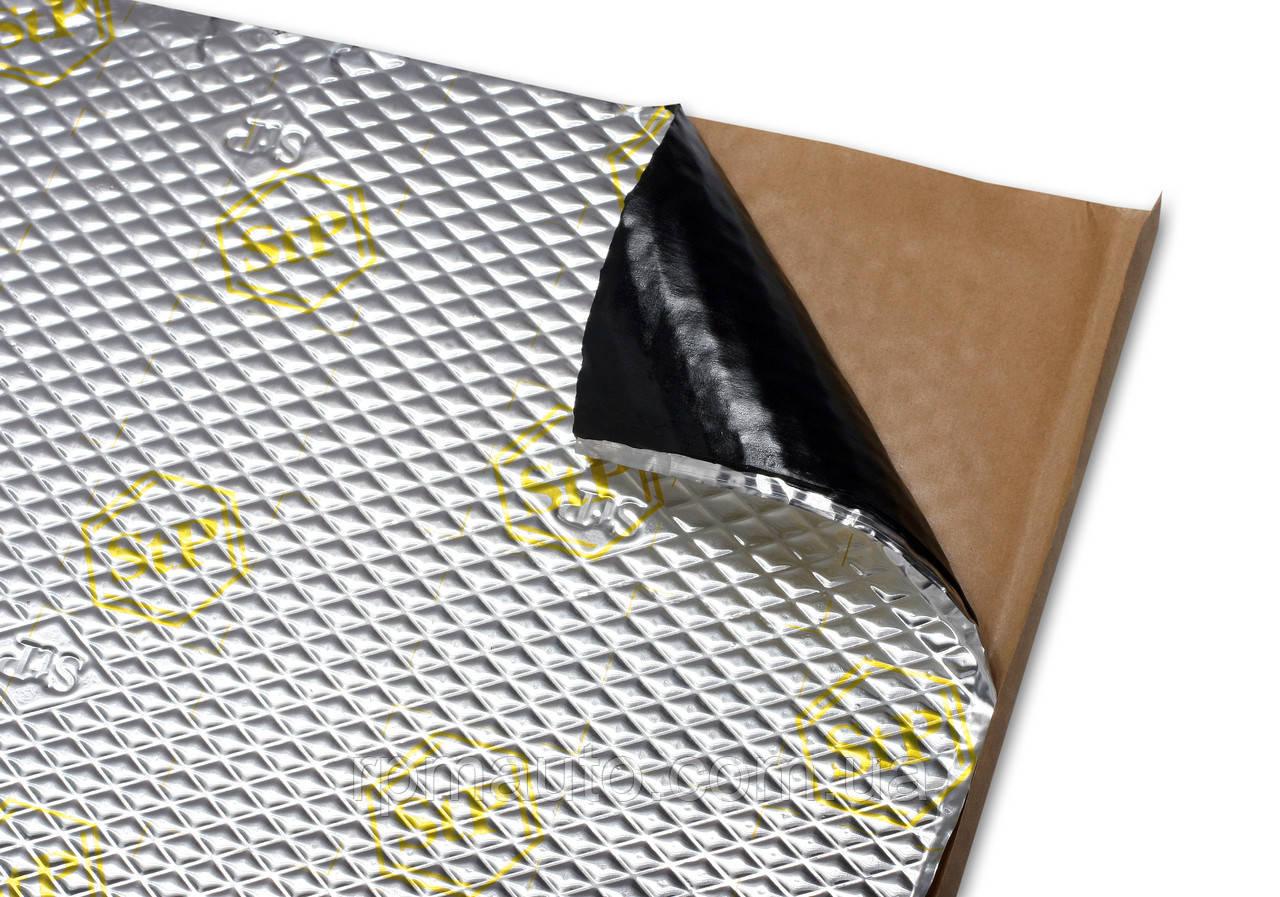 Шумоізоляція Авто STP Вібропласт Gold 2.3 мм 53х75 см Обесшумка Віброізоляція Шумка Шумовиброизоляция