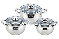 Набор посуды нержавеющий Maxmark - 3 шт. (2 x 3 x 4 л) MK-APP7506A