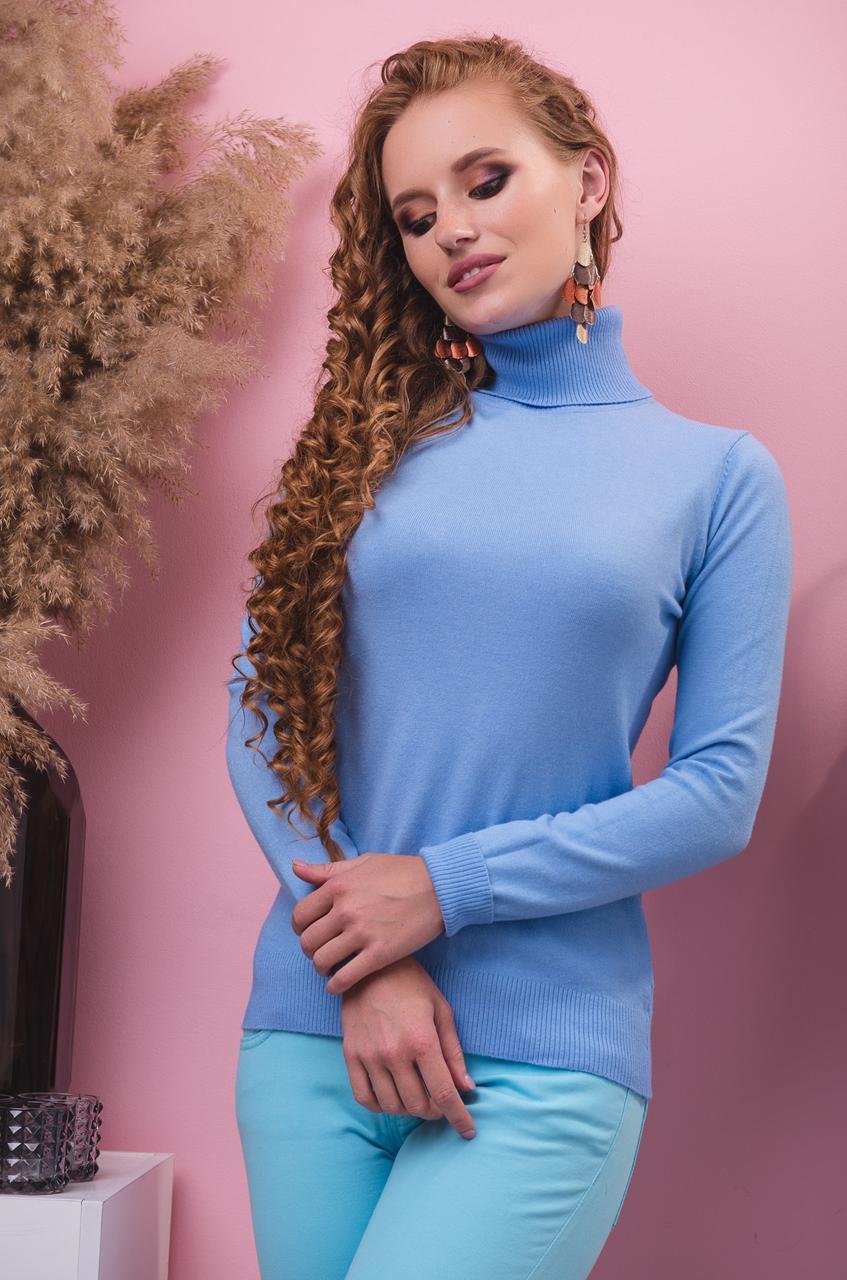 Батальная голубая водолазка Milano.Размер 50-52,52-54
