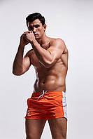Оранжевые короткие мужские купальные шорты AQUX