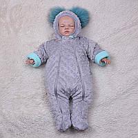 """Плюшевый комбинезон """"Пушинка"""" для новорожденных деток, фото 1"""
