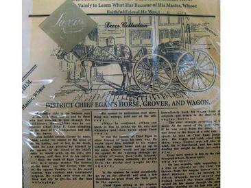 Дизайнерская салфетка (ЗЗхЗЗ, 20шт) Luxy  Газета (042) (1 пач)