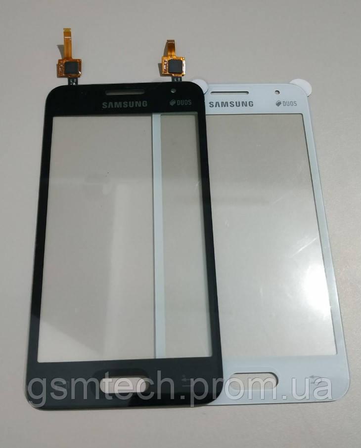 Сенсор (Тачскрин) для Samsung G355 белого цвета (оригинал) (IC IMAGIS)