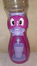 Кулер детский/Диспенсер для воды Уточка 2,5 л. Фиолетовый с сиреневым