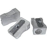 Точилка, 1 отверстие, без конт., Kum 400-1K, мет., серебряная, клиновидная