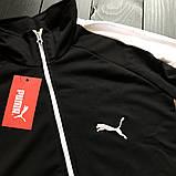 Мужской весенний спортивный костюм Puma (black), черный спортивный костюм с лампасами Puma, фото 2