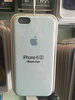 Чехол накладка Silicone Case для  iPhone 6 \ 6S №43 light blue