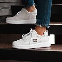 Мужские кроссовки South Freedom white, белые кожаные мужские кроссовки, кожаные классические кеды