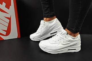 Женские Кроссовки Nike Air Max 90 арт 20607 (женские, белые, найк), фото 3