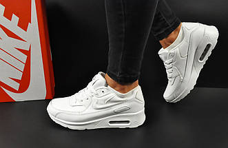 Женские Кроссовки Nike Air Max 90 арт 20607 (женские, белые, найк), фото 2